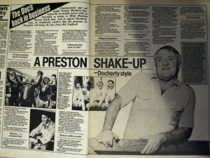 Tommy Docherty back from Australia and now at Preston
